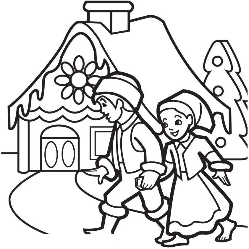 Gingerbread House Coloring Pages Printable Printable 288 Free