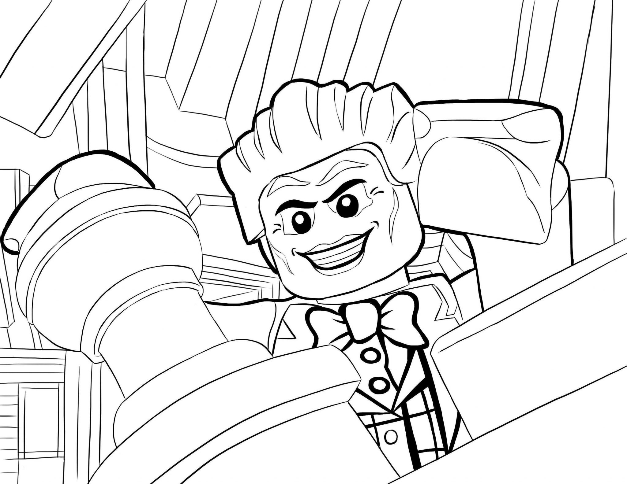 Lego Batman Coloring Pages Simple For Toddlers Harley Quinn 470
