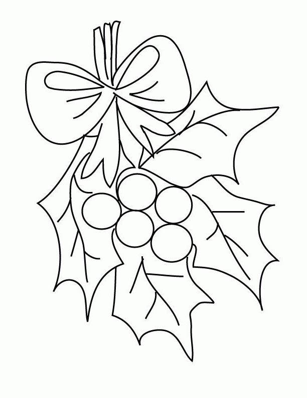It is a graphic of Tactueux Mistletoe Coloring Page