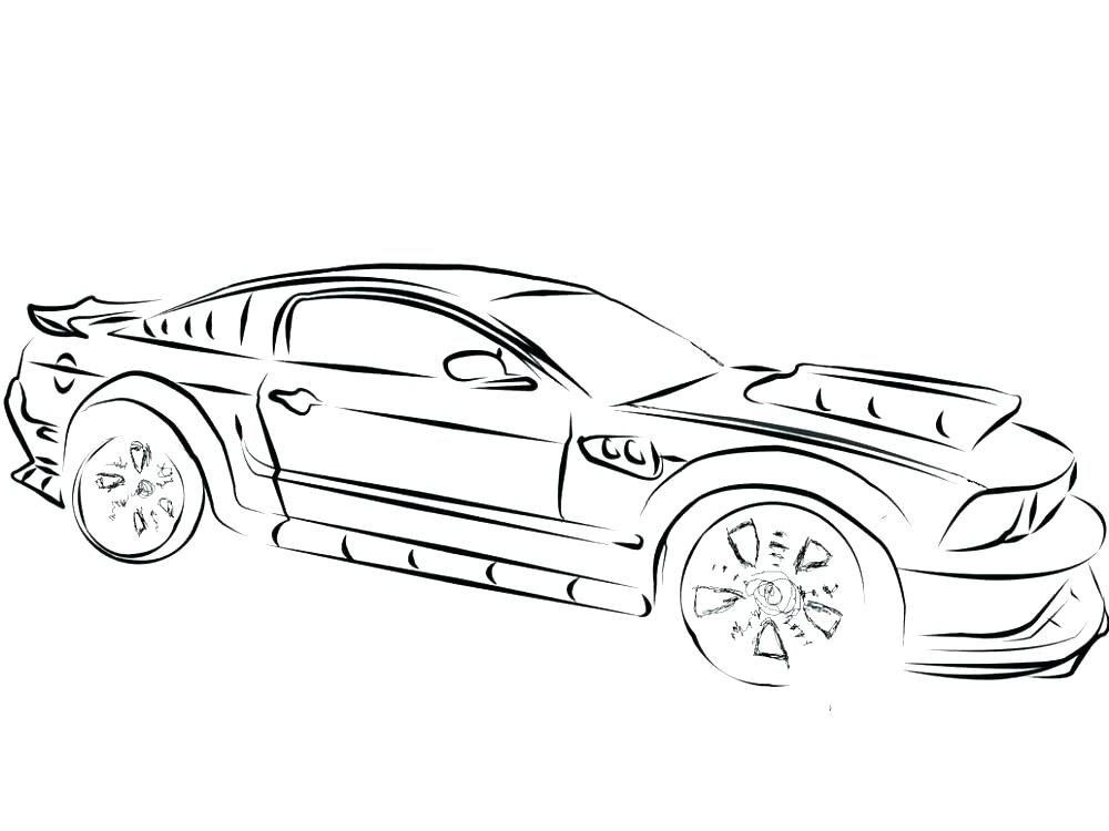 mustang coloring pages new line drawing gt cars 1323