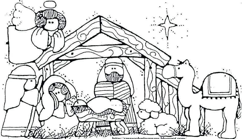 picture about Nativity Clipart Free Printable known as Nativity Coloring Internet pages Printable Clipart Manger 1092 - No cost