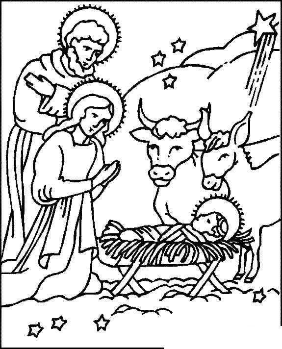 picture regarding Free Printable Christmas Story named Nativity Coloring Internet pages Printable Obtain Xmas Tale