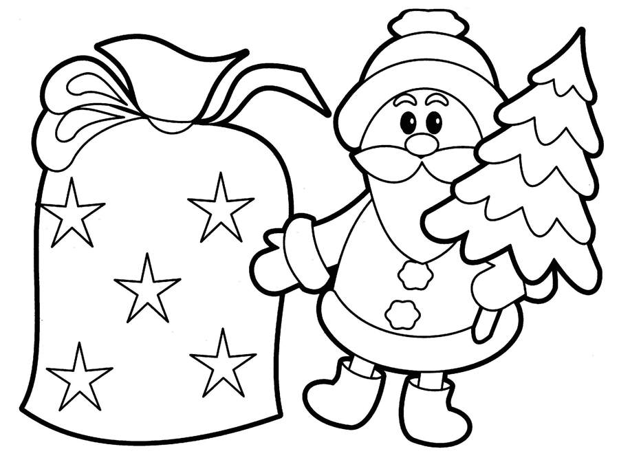 New Cute Christmas Coloring Pages And Out Clipart Free Printable