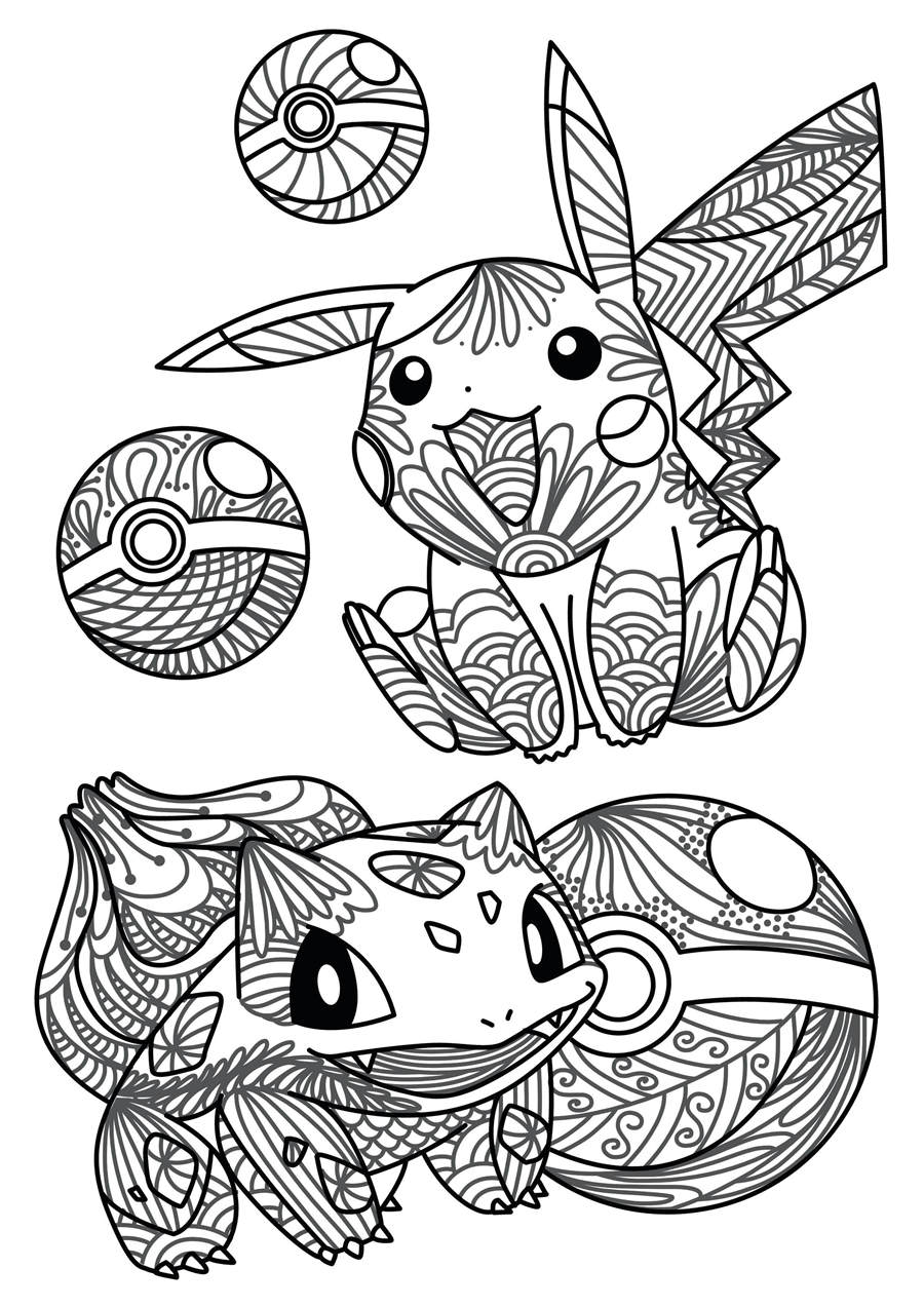 Printable Cute Christmas Coloring Pages Pokemon Card for