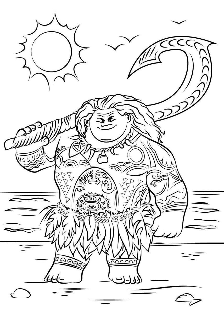 photo about Moana Printable Coloring Pages known as Printable Moana Coloring Webpages 24 for Boys - No cost Printable