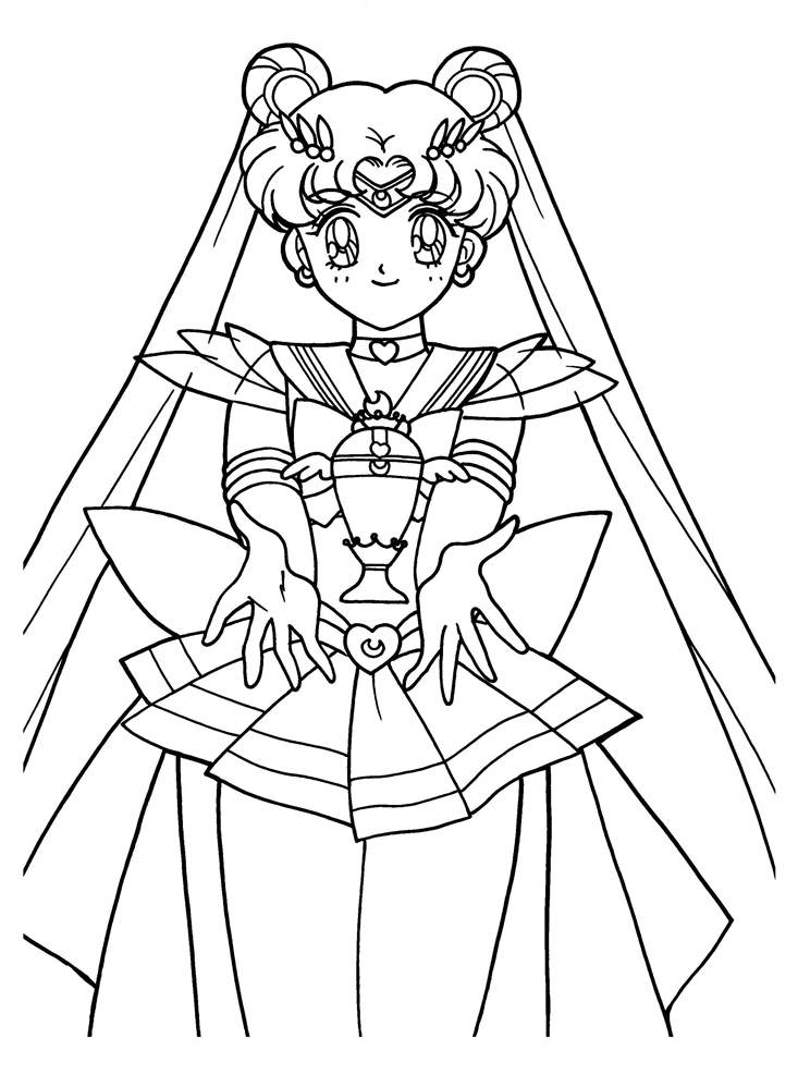 photograph relating to Sailor Moon Coloring Pages Printable identified as Sailor Moon Coloring Internet pages Remarkable Lineart 864 - Totally free
