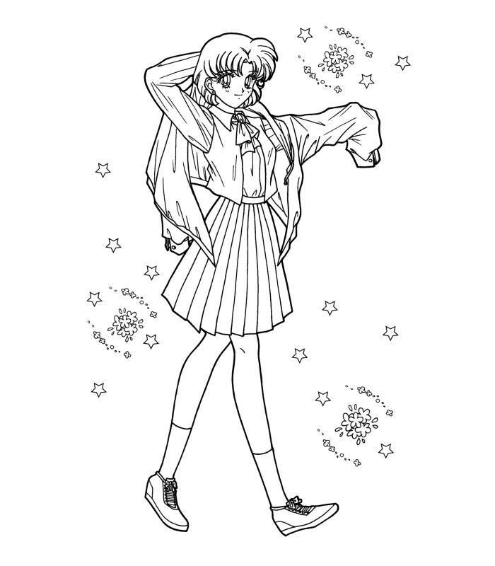 Sailor Moon Coloring Pages Coloring Book 966 Free