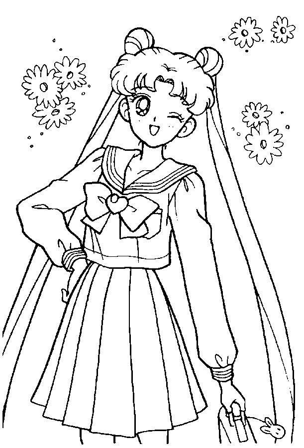 Sailor Moon Coloring Pages Easy for Boys 789 - Free Printable ...
