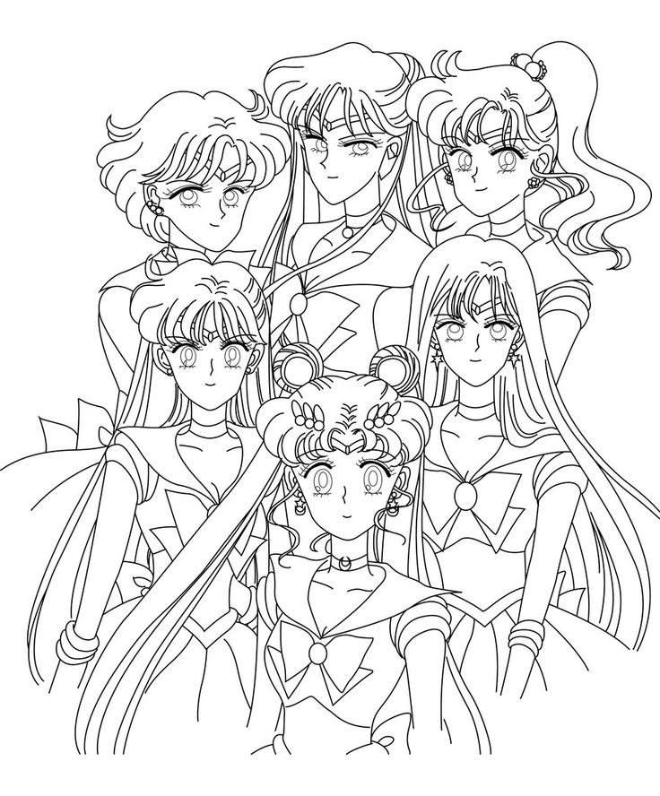 Sailor Moon Coloring Pages Fancy Images 794 - Free Printable ...