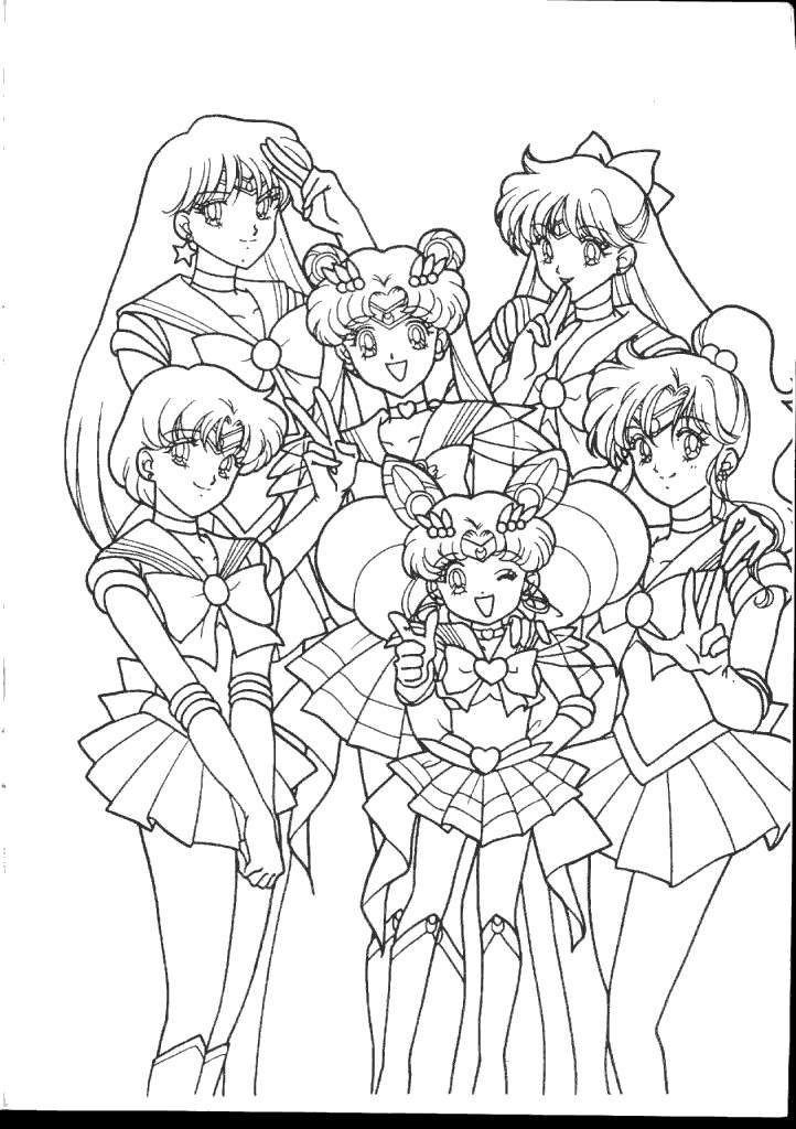 photograph relating to Sailor Moon Coloring Pages Printable titled Women of all ages towards Sailor Moon Coloring Internet pages - No cost Printable