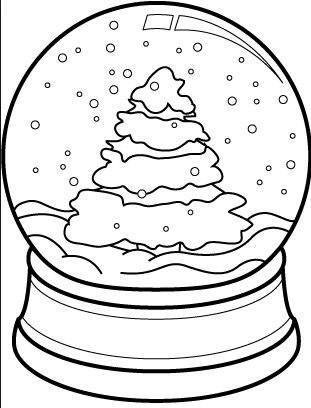 photo regarding Globe Printable known as Snow World Coloring Internet pages Black and White Xmas Tree 335