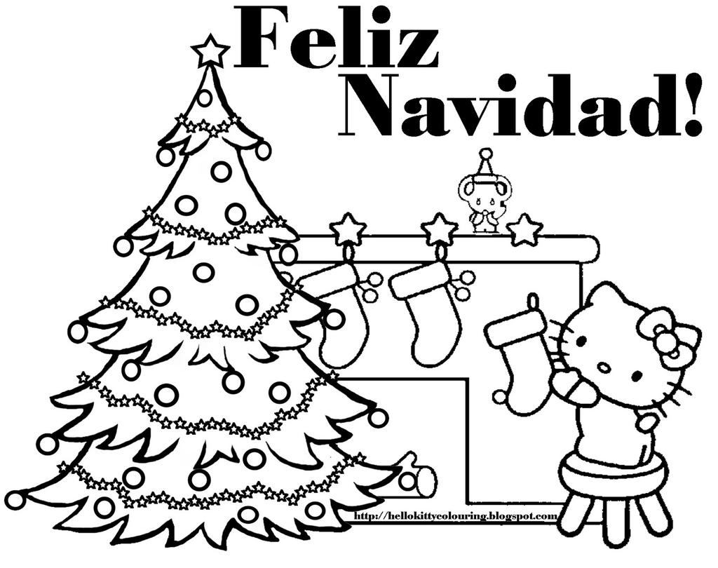 Spanish Holiday Coloring Pages Christmas for Kids Free
