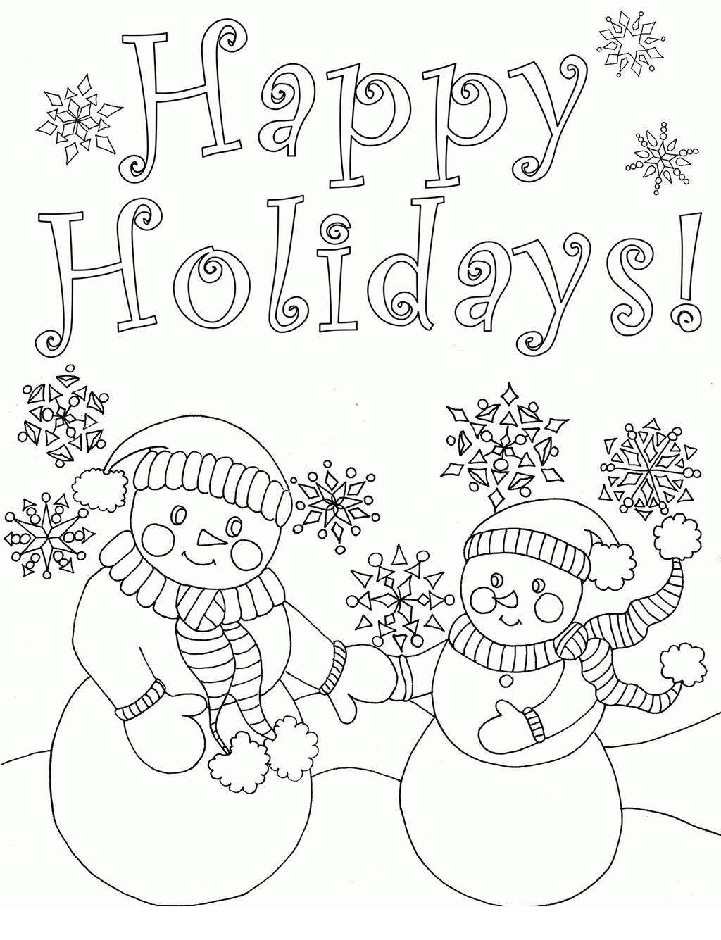 Spanish Holiday Coloring Pages