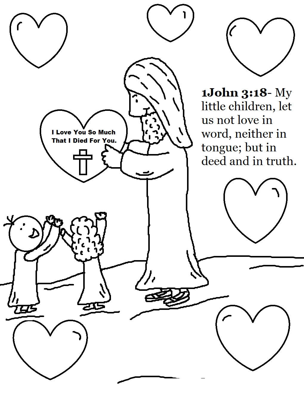 Sunday School Coloring Pages Sheets Bible for Toddlers ...