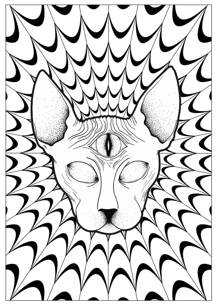 Free The Trippy Coloring Pages Cool Plicated 141 printable