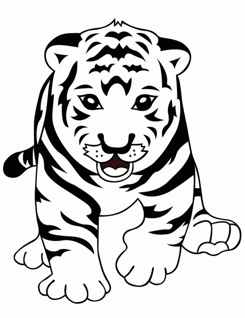 Tiger Coloring Pages Baby Children For Boys Free Printable