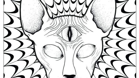 Free Trippy Coloring Pages Easy Clipart Psychedelic Book 175 printable
