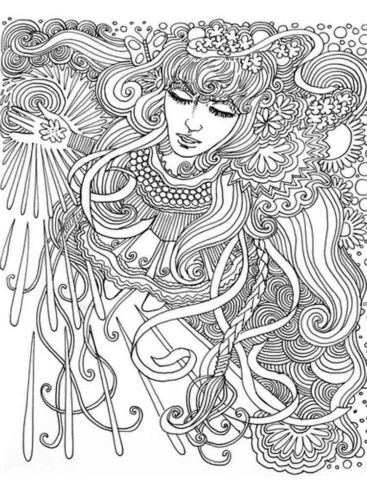 psychedelic coloring pages - photo#44