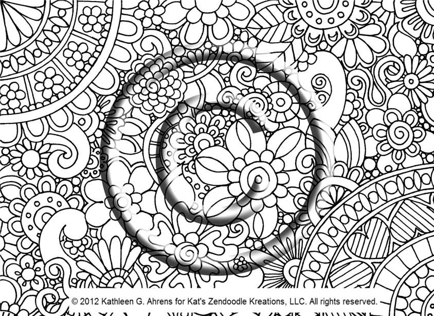 Free Trippy Coloring Pages Free Hand Drawing Psychedelic Instant 346 printable