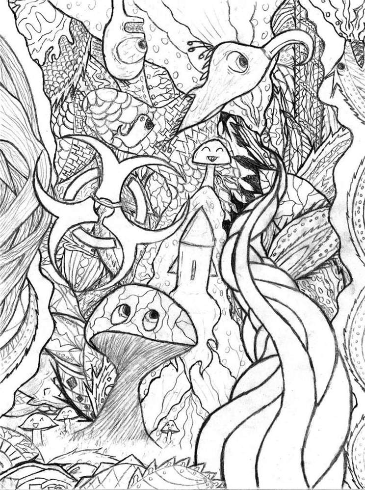 Trippy Coloring Pages Printable Coloring Book 51 - Free Printable ...
