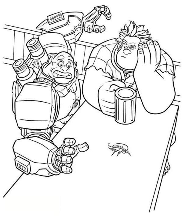 Free Wreck It Ralph Coloring Pages Easy Drawings 758 printable