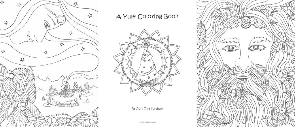 image regarding Printable Wiccan Coloring Pages named Grownup Pagan Coloring Internet pages Abruptly Wiccan - No cost Printable