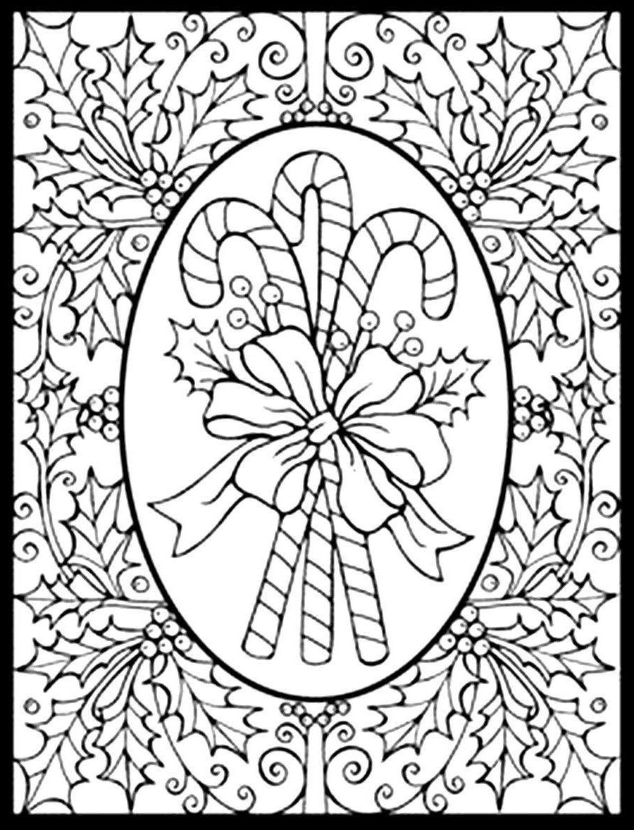 picture relating to Free Printable Adult Christmas Coloring Pages called Grownups Xmas Coloring Web pages Demanding Grownup Coloring Sheets
