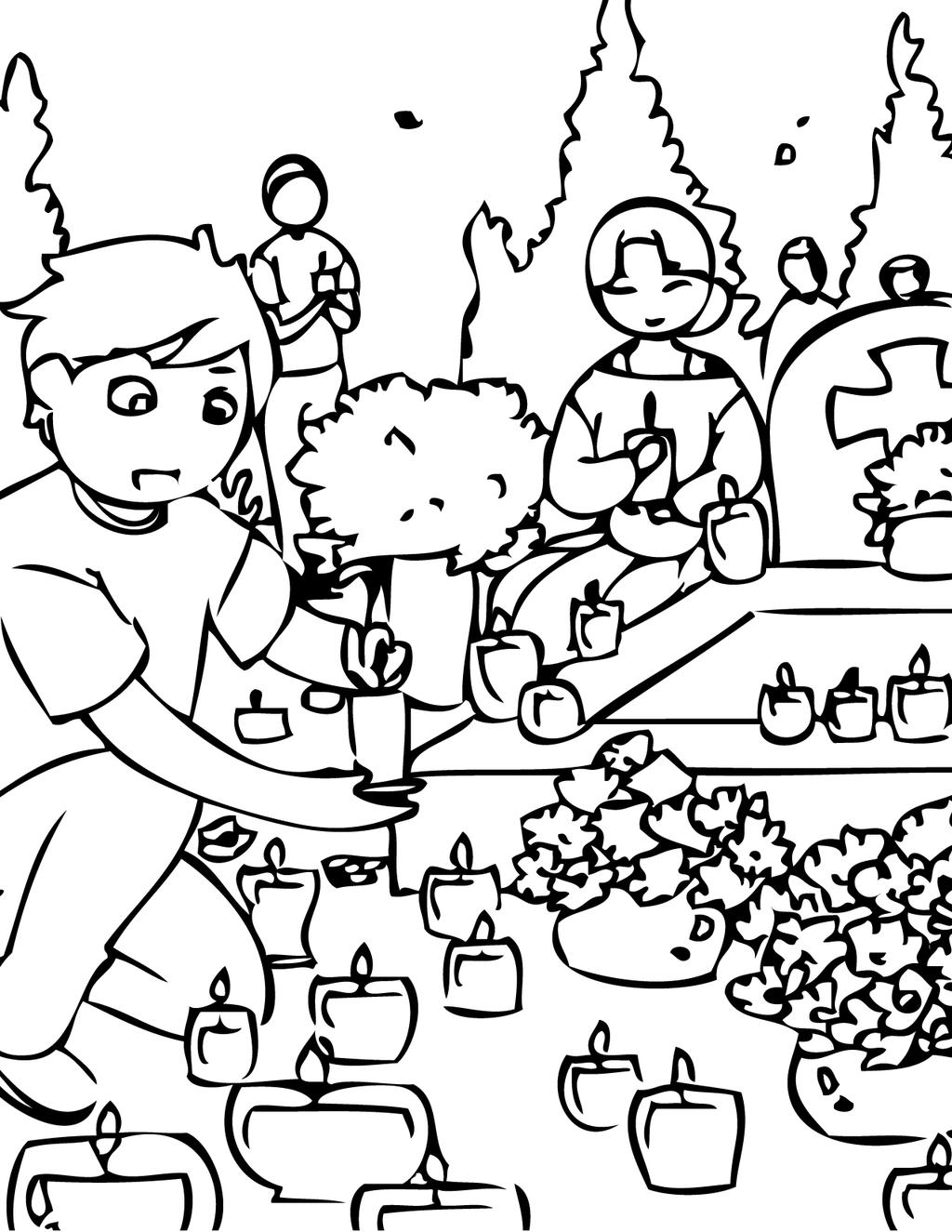 All Saints Day Coloring Pages 334 Linear Free Printable Coloring Pages