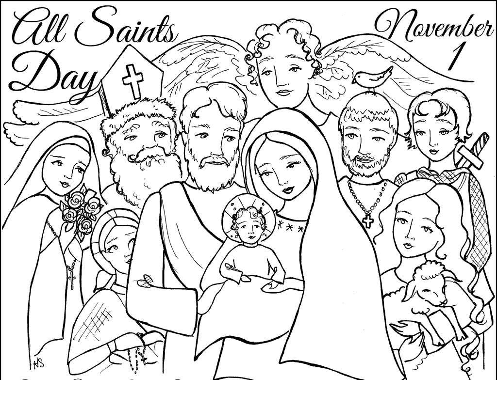 Free All Saints Day Coloring Pages Welcome s printable