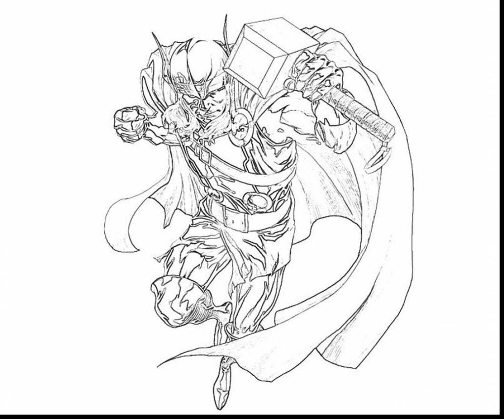 Avengers Thor Coloring Pages Drawing