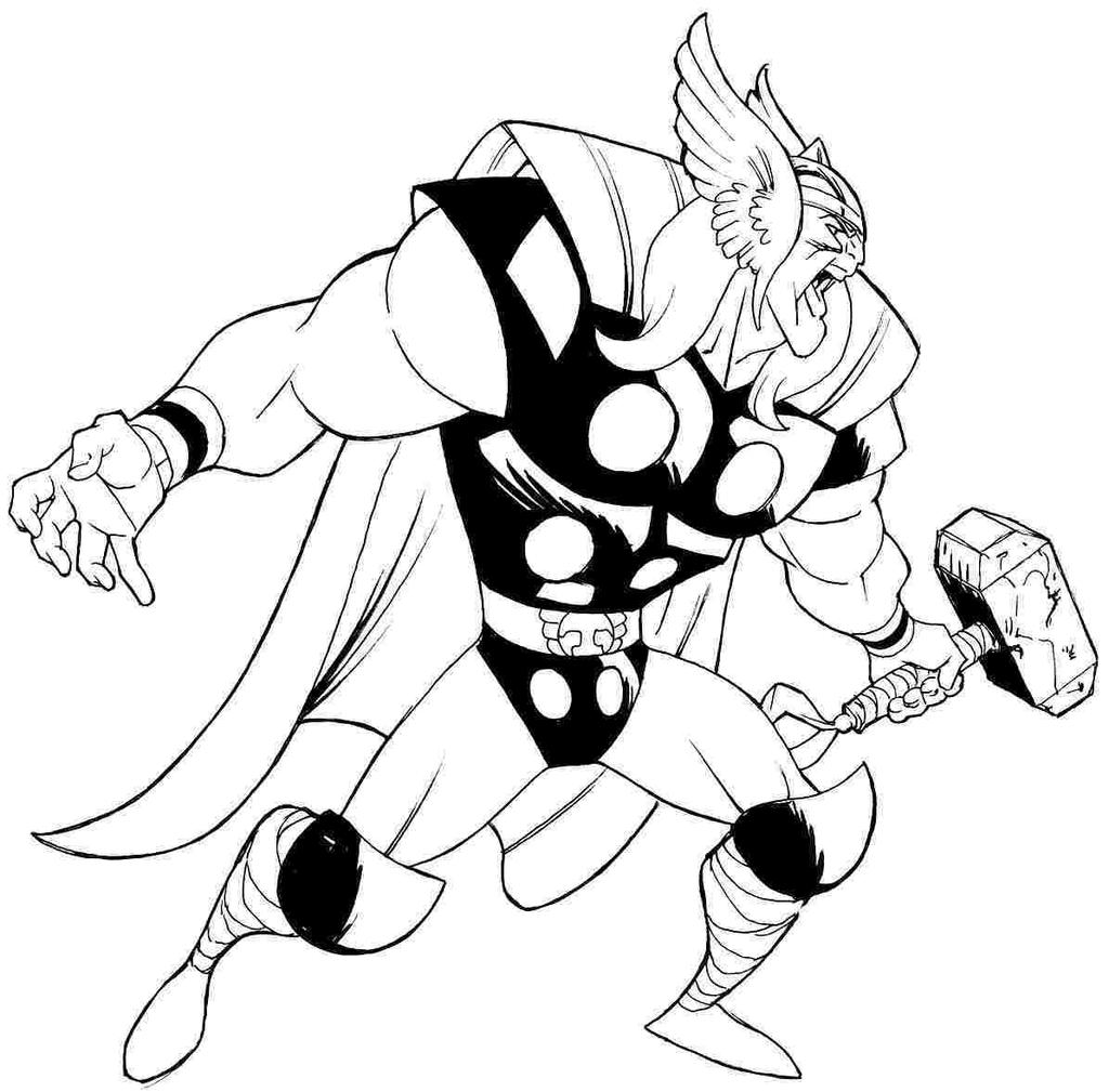 Avengers Thor Coloring Pages Sure Fire Free Printable Coloring Pages