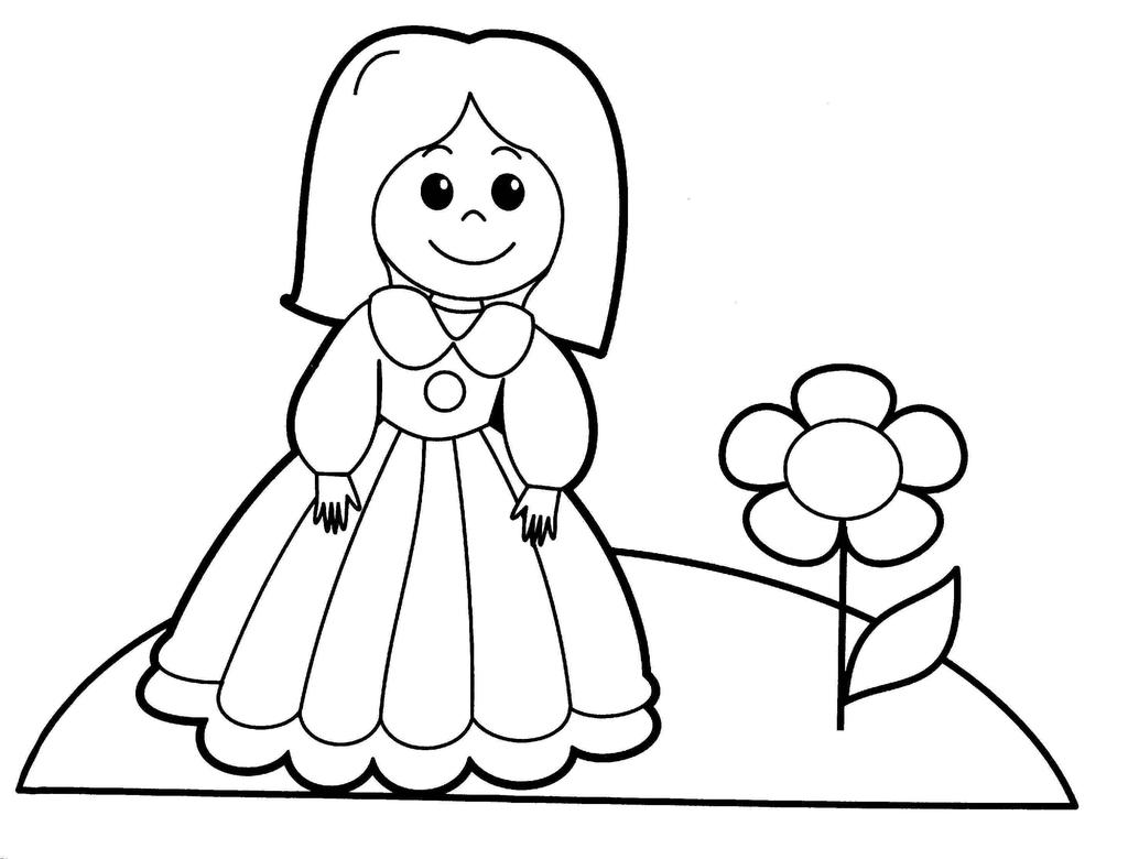 Baby Doll Coloring Pages Girls And Clipart Free Printable Coloring