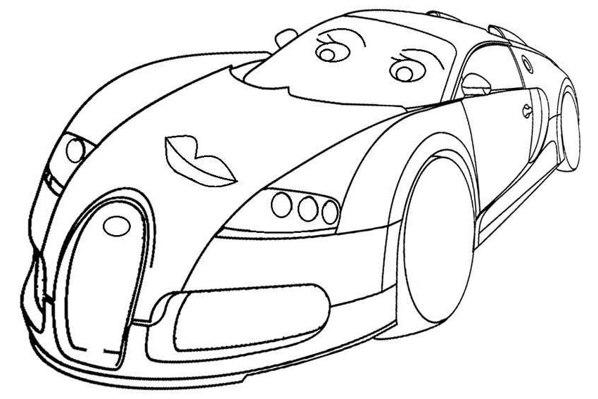 Bugatti Coloring Pages Kids Coolbkids Pictures Free Printable