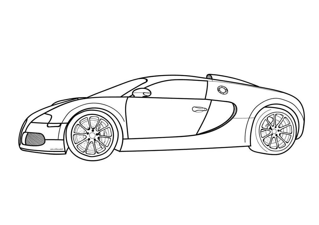 Bugatti Coloring Pages Veyron Letme For Kids Free Printable