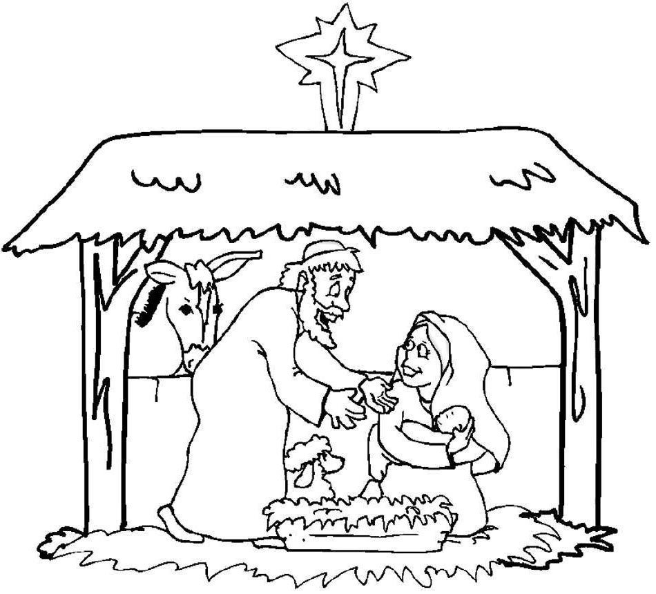 Children Christmas Coloring Pages Bible Sunday for Girls - Free ...