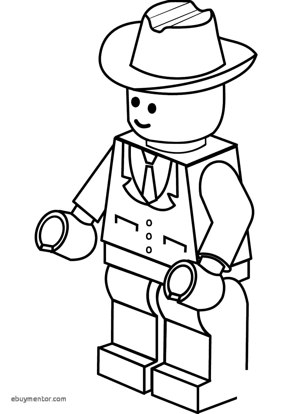 Cowboy Coloring Pages Lego Sheets - Free Printable Coloring Pages