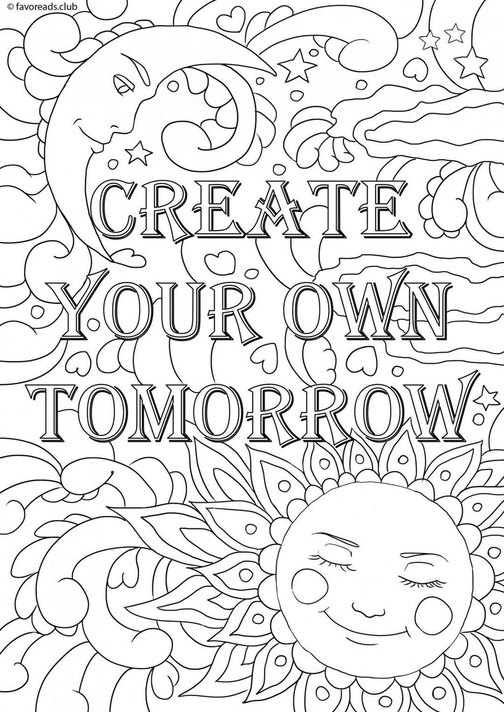 photo about Free Printable Quote Coloring Pages for Adults titled Deliver Your Particular Estimate Coloring Web pages Grownup Reserve - Cost-free