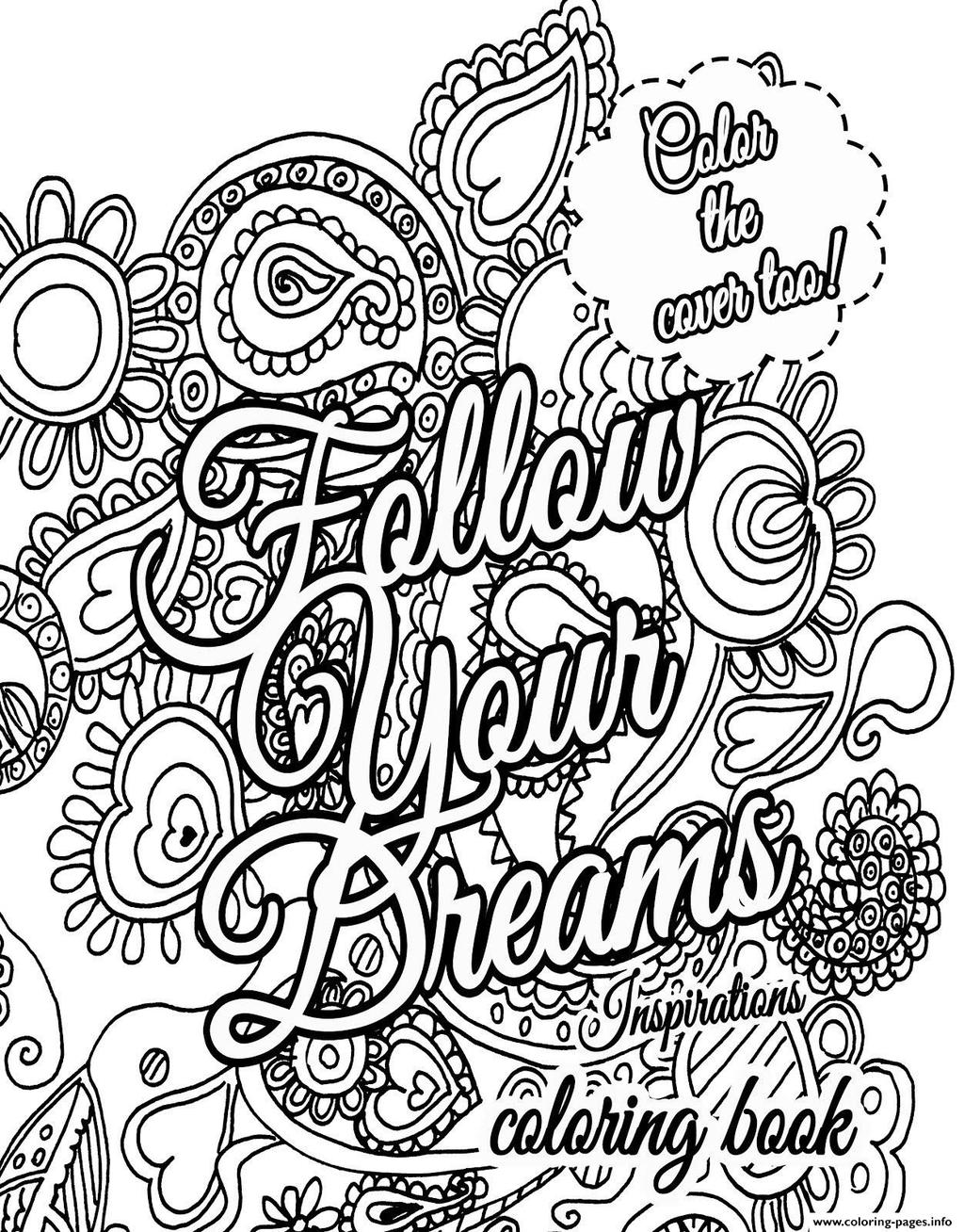 Create Your Own Quote Coloring Pages Adult Quotes Free