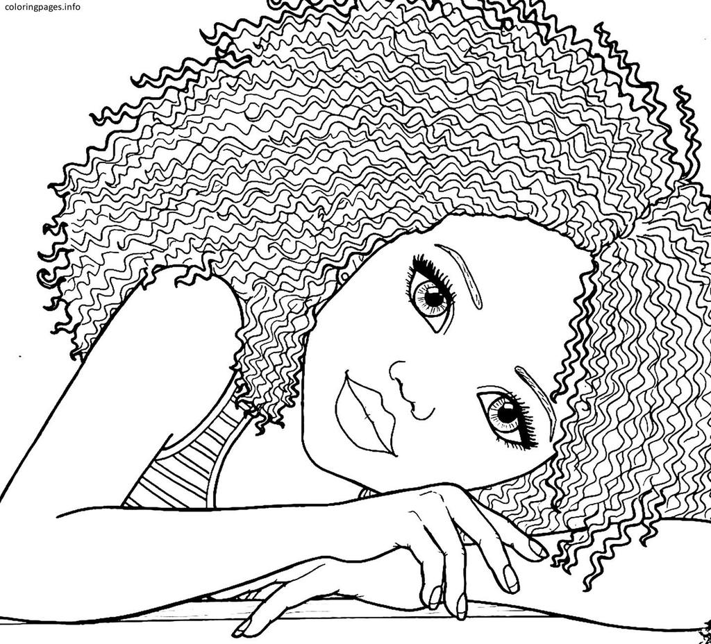 Free Cute American Girl Coloring Pages 656 Lineart printable
