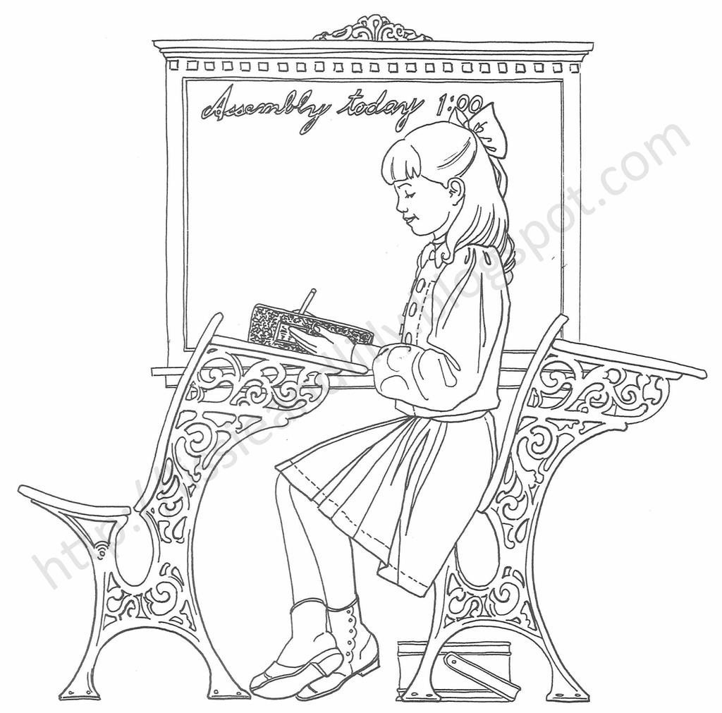 Free Cute American Girl Coloring Pages Doll Books printable