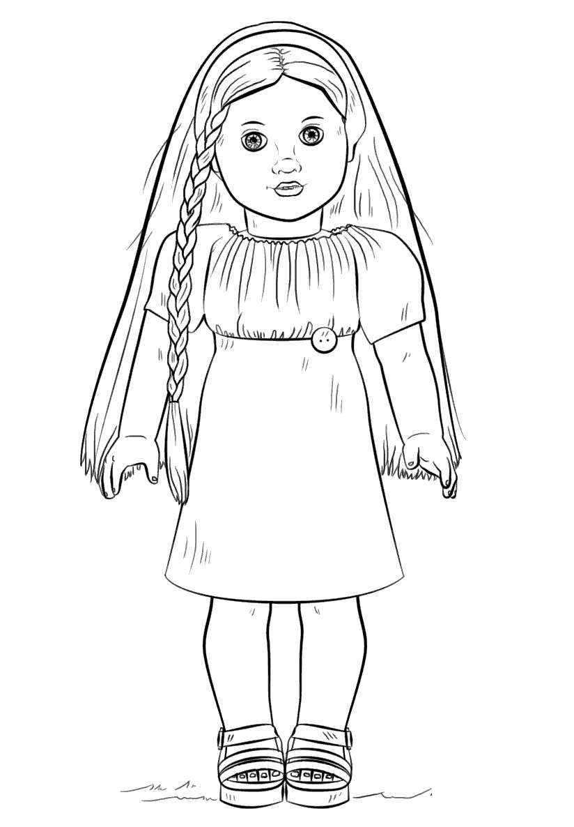 Free Cute American Girl Coloring Pages Doll Julie printable
