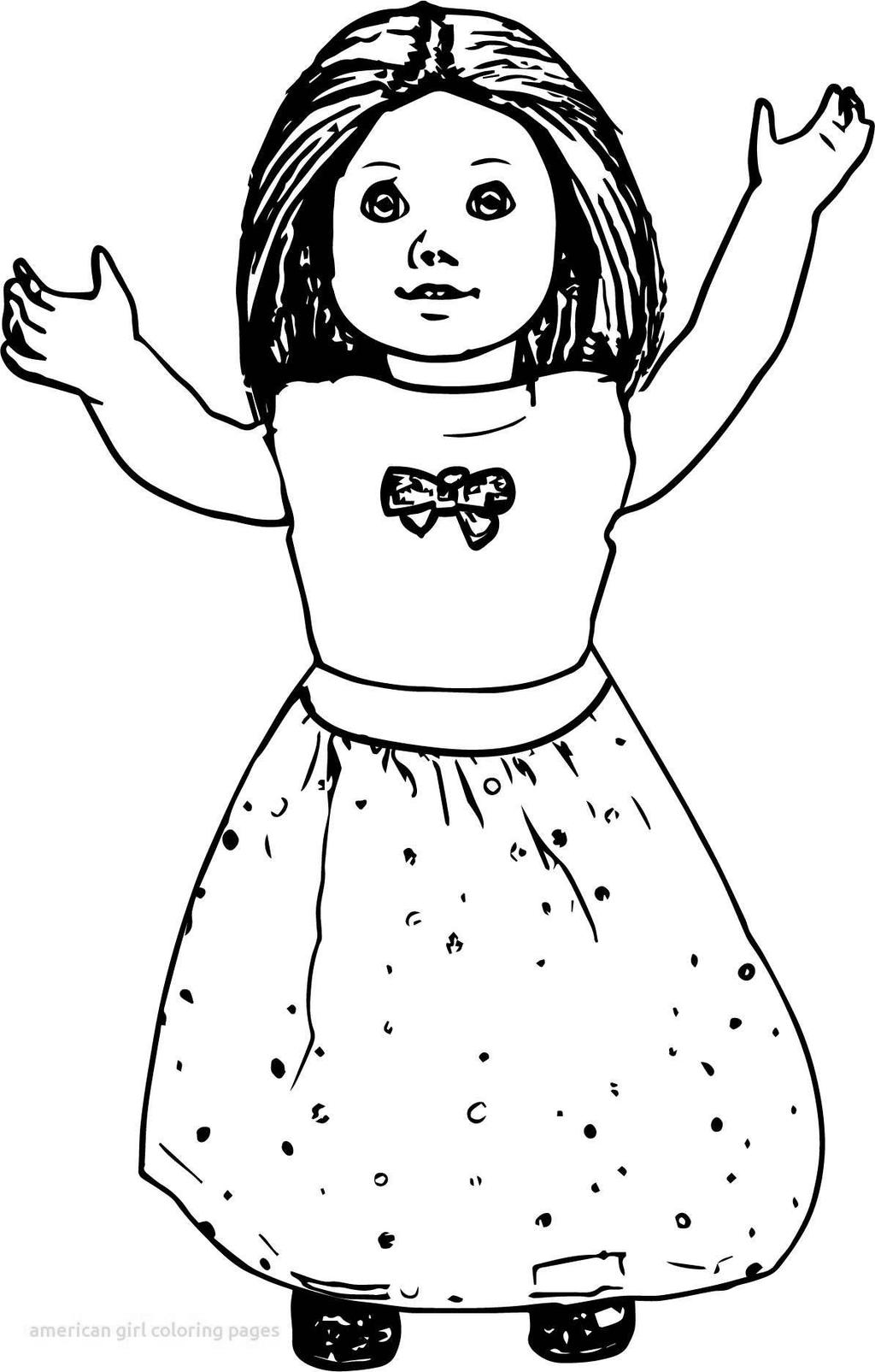 Free Cute American Girl Coloring Pages Dolls Clipart printable