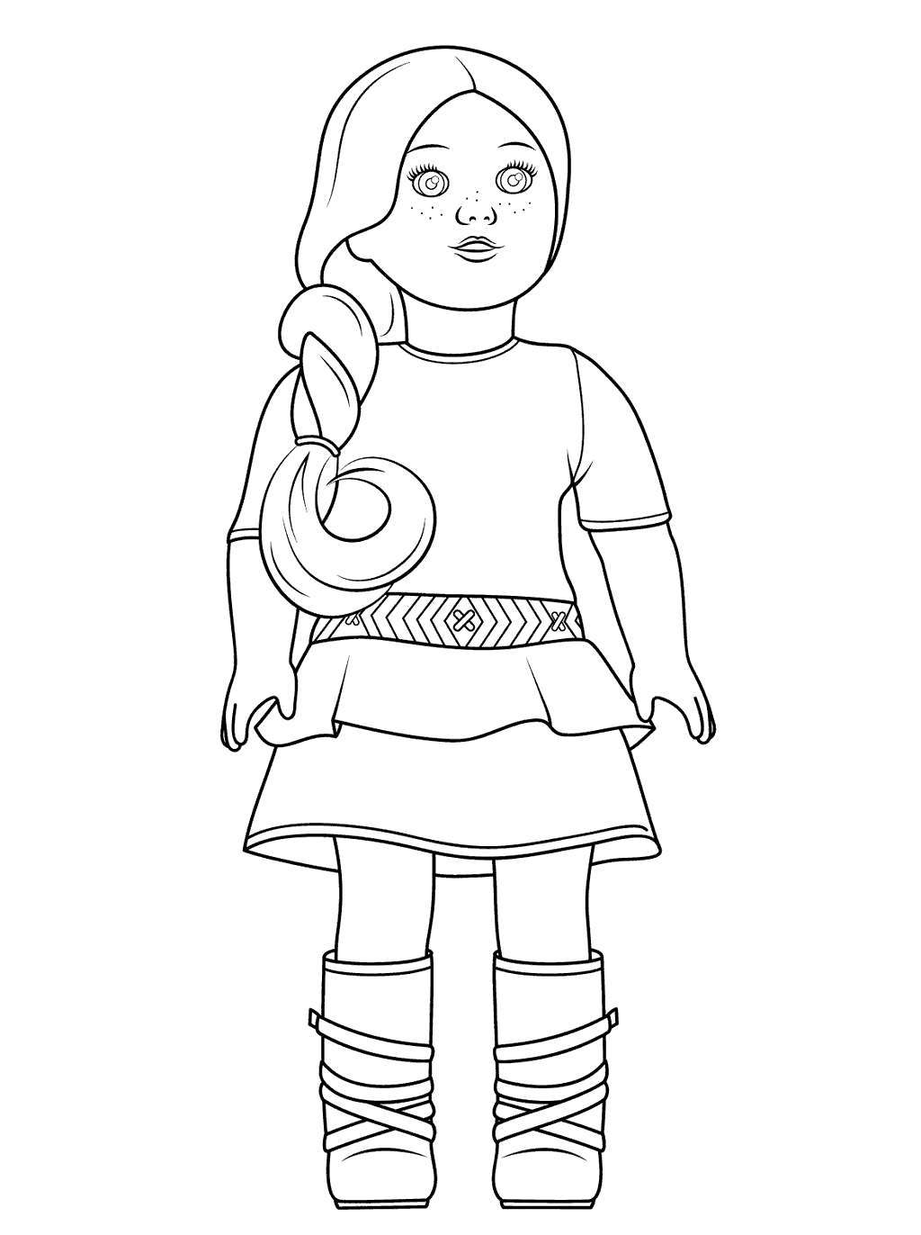Free Cute American Girl Coloring Pages Native Julie printable