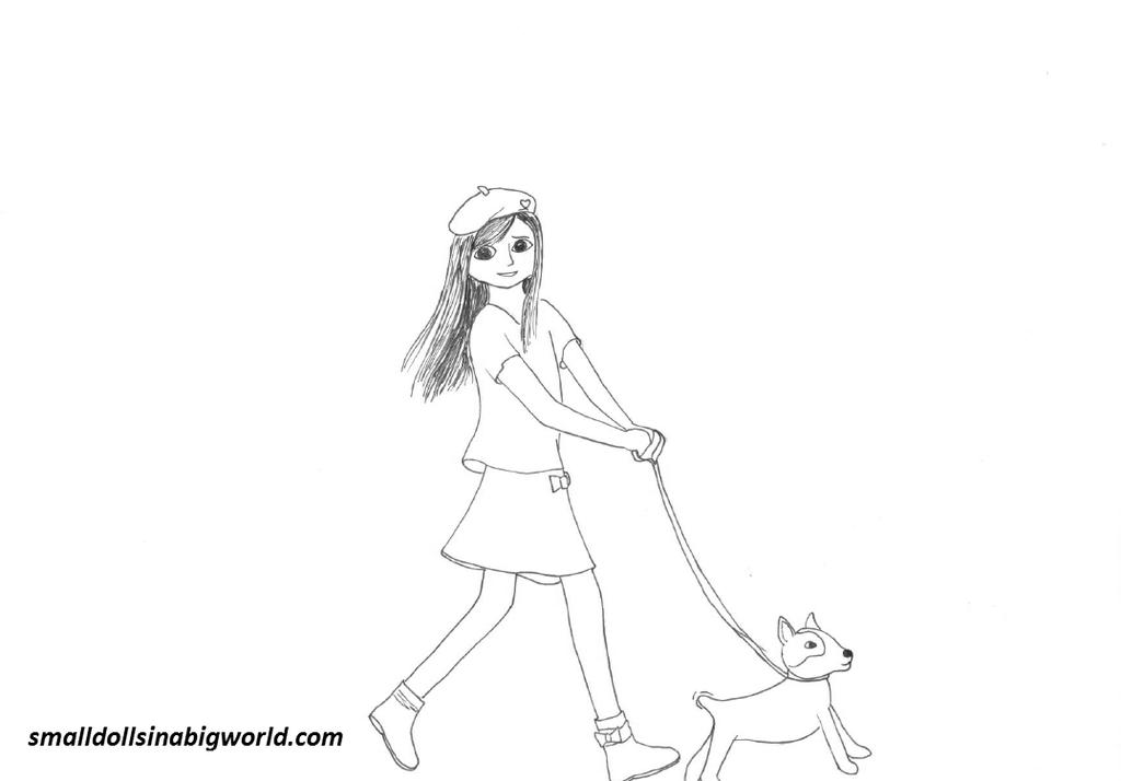Free Cute American Girl Coloring Pages Unlimited Grace printable