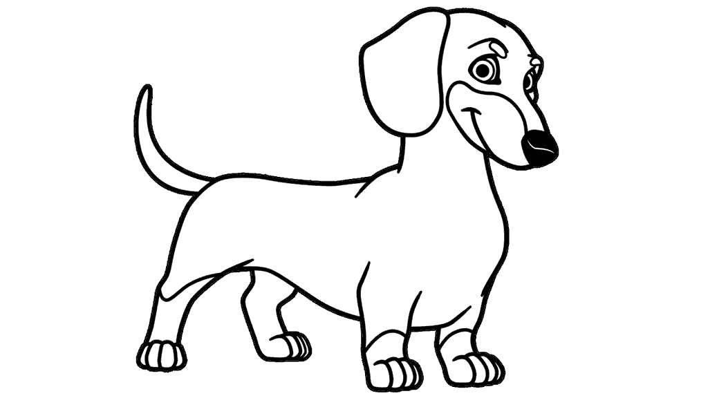 Top Dachshund Coloring Pages Print Ideas Printable Coloring