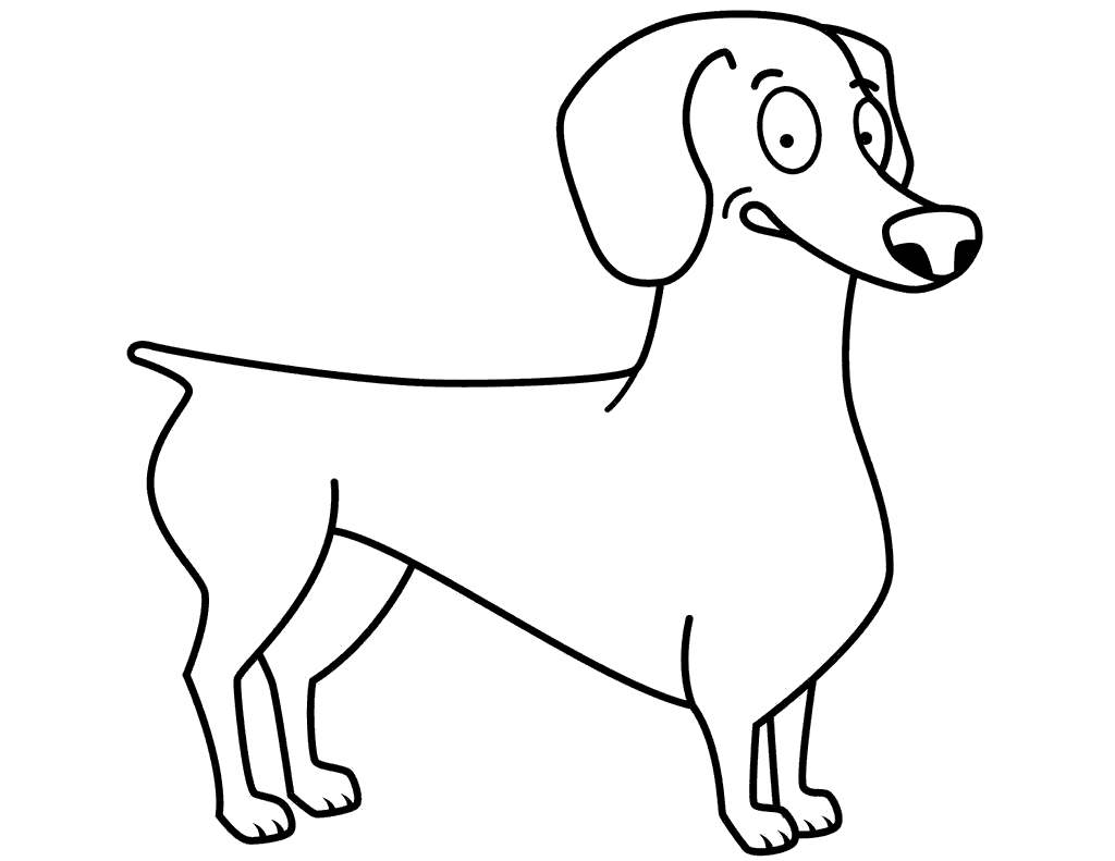Dachshund Coloring Pages Funny For Boys Free Printable Coloring Pages