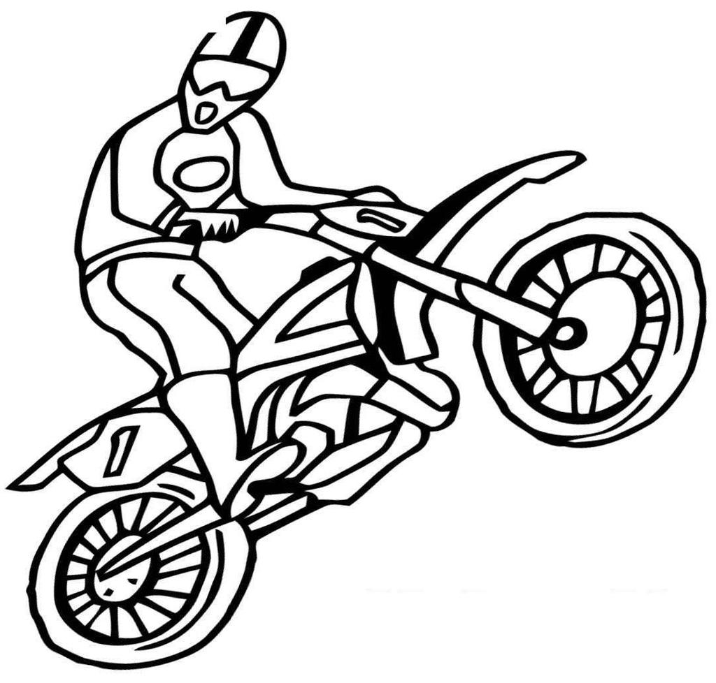 Dirt Bike Coloring Pages Fascinating Honda For Adults Free