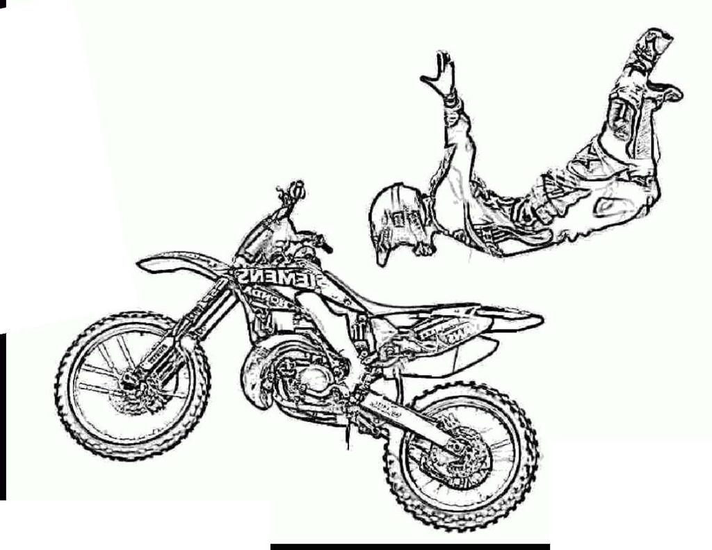 Dirt Bike Coloring Pages Honda COLORING Worksheet - Free ...