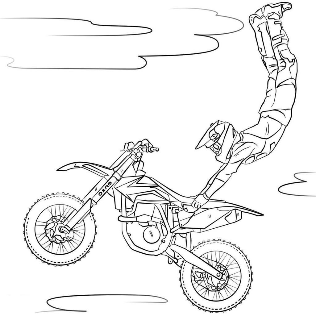 Dirt bike coloring pages kawasaki motocross activity