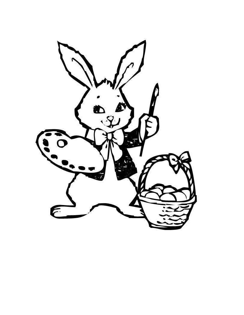 Easter Bunny Coloring Pages Artist For Adults Free Printable